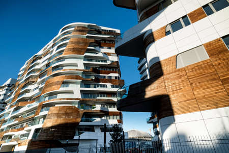 Modern residential buildings in Milan (Lombardy, Italy): Citylife Editorial