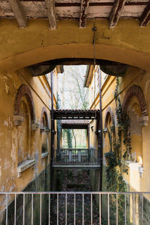watermill: Historic watermill in the Monza Park (Lombardy, Italy) at winter