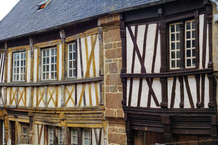 typical: Saint-Brieuc (Cotes-dArmor, Brittany, France): old typical half-timbered houses
