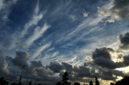 manche: Cloudscape in Avranches (Manche, Normandy, France) in a summer evening