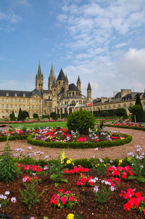 Caen (Calvados, Normandie, France): gardens of the medieval abbey known as Abbaye aux Hommes, built from 11th century