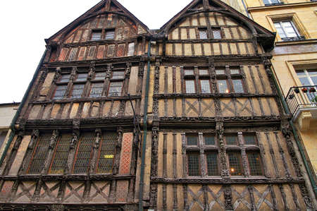 half timbered house: Caen (Calvados, Normandy, France): half-timbered house: facade