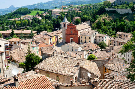 urbino: Pennabilli, Montefeltro (Urbino, Marches, Italy), view of the old town