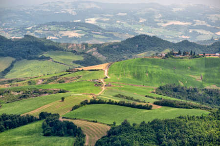 appennino: Landscape of the hills of Romagna (Italy)  from Sogliano sul Rubicone at summer