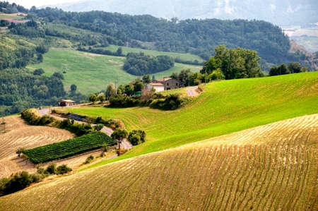 appennino: Landscape of the hills of Romagna (Italy)  near Sogliano sul Rubicone at summer