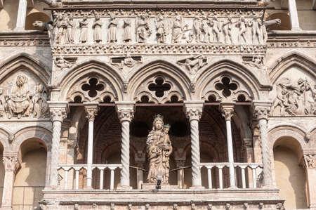 Ferrara (Emilia-Romagna, Italy) - The cathedral facade, in romanesque style