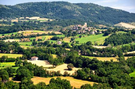 appennino: Landscape of the hills of Romagna (Italy)  near Pennabilli (Rimini) at summer