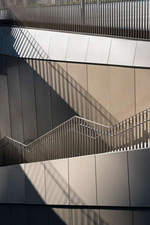 torri: Milan (Lombardy, Italy): stairs in the Tre Torri square Stock Photo