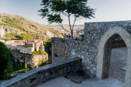 Cuenca (Castilla-La Mancha, Spain), the famous casas colgadas, Unesco World Heritage SIte, and the San Pablo convent