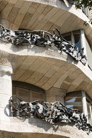 catalunya: Barcelona (Catalunya, Spain): house Mila, or Pedrera, famous building by Gaudi along the Paseig de Gracia