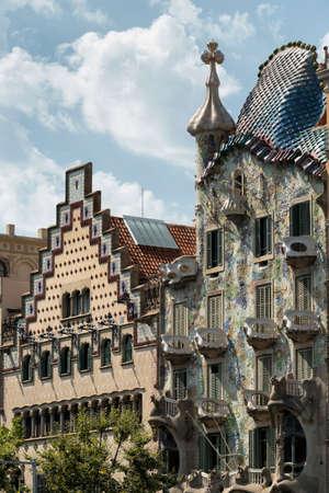 Barcelona (Catalunya, Spain): artistic buildings along the Paseig de Gracia Stock Photo