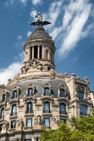 catalunya: Barcelona (Catalunya, Spain): historic building along the Passeig de Gracia Stock Photo