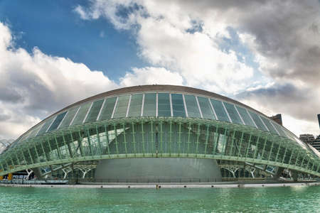 Valencia (Spain), the City of Arts and Sciences, projected by Santiago Calatrava and Felix Candela