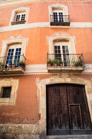 catalunya: Tarragona (Catalunya, Spain): facade of house Castellarnau Stock Photo