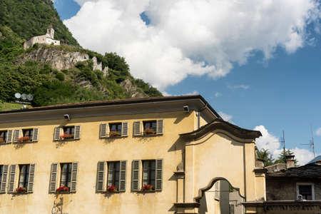 historic buildings: Tirano (Sondrio, Lombardy, Italy), historic buildings near the Sanctuary
