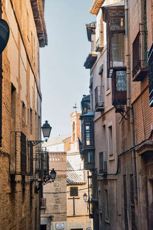 castilla: Toledo (Castilla-La Mancha, Spain): old typical street in the historic city