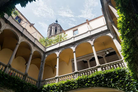 catalunya: Barcelona (Catalunya, Spain): courtyard of the historic Palace of Lloctinent, in the gothic quarter
