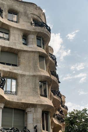 Barcelona (Catalunya, Spain): house Mila, or Pedrera, famous building by Gaudi along the Paseig de Gracia
