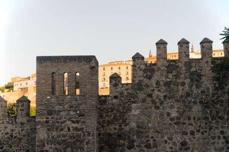 toledo: Toledo (Castilla-La Mancha, Spain): the medieval walls at evening