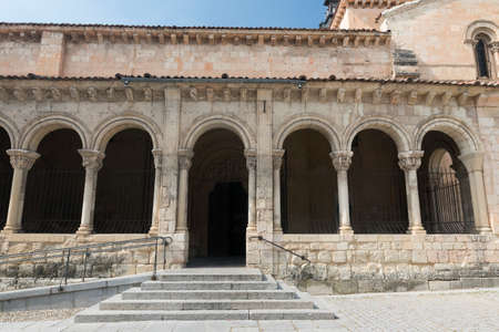 Segovia (Castilla y Leon, Spain): exterior of the medieval church of San Millan Stock Photo