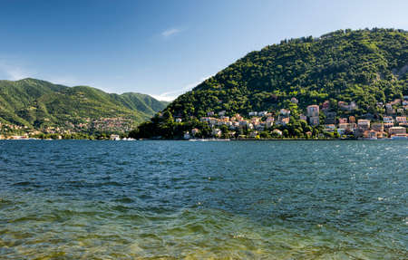 Como (Lombardy, Italy): the lake in a summer morning