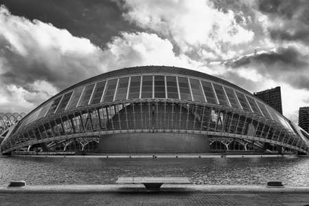 felix: Valencia (Spain), the City of Arts and Sciences, projected by Santiago Calatrava and Felix Candela. Black and white