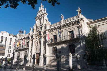 Valladolid (Castilla y Leon, Spain): facade of the historic University Archivio Fotografico