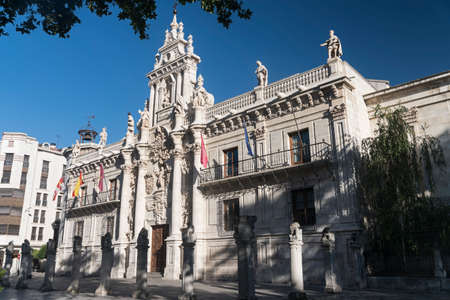 castilla: Valladolid (Castilla y Leon, Spain): facade of the historic University Stock Photo