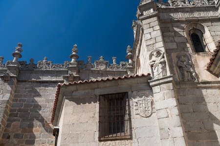 Avila (Castilla y Leon, Spain): exterior of the medieval cathedral Stock Photo