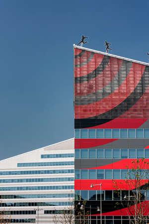 Milan (Lombardy, Italy): modern office building in the new Portello area hosting the headquarter of A.C. Milan, historic football club