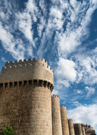 castilla: Avila (Castilla y Leon, Spain): the famous medieval walls surrounding the city