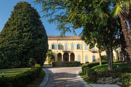 monza: Costa Lambro (Monza Brianza, Lombardy, Italy): the historic Villa Stanga Busca Borromeo, exterior
