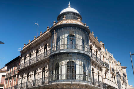 verandas: Salamanca (Castilla y Leon, Spain): facade of typical historic building, with balconies and verandas