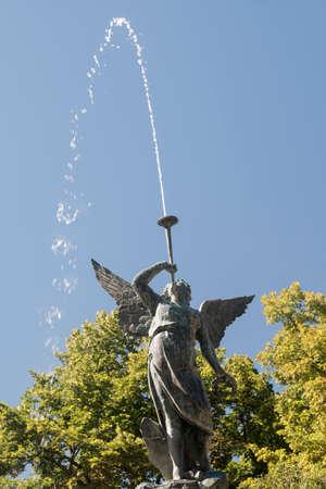 Valladolid (Castilla y Leon, Spain): park of Campo Grande: fountain