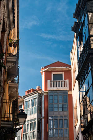 verandas: Leon (Castilla y Leon, Spain): historic buildings in Calle Cardiles with the typical verandas