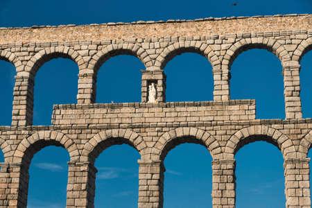 Segovia (Castilla y Leon, Spain): the Roman aqueduct, Unesco World Heritage Site Stock Photo