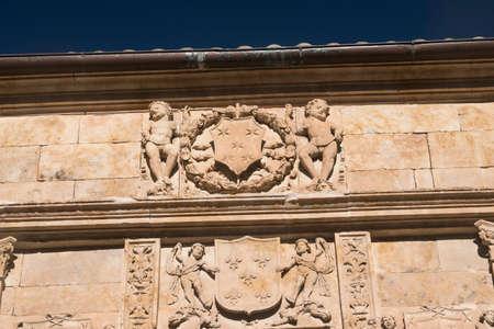 Salamanca (Castilla y Leon, Spain): historic building, detail Editorial