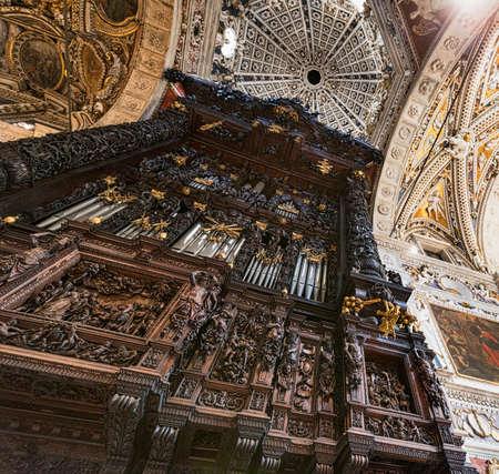 Tirano (Sondrio, Lombardy, Italy), the historic church known as Sanctuary. Interior Editorial