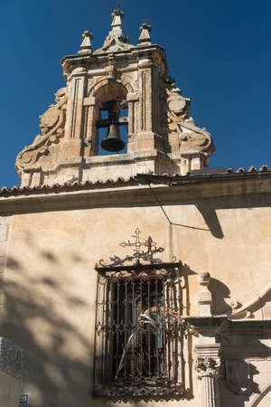 Salamanca (Castilla y Leon, Spain): exterior of the historic church known as Convento de la Anunciacion, bell Stock Photo
