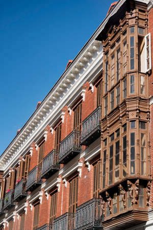 verandas: Valladolid (Castilla y Leon, Spain): historic building with the typical verandas