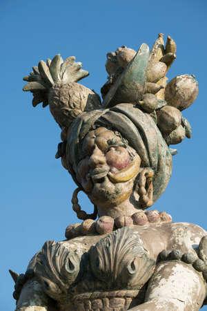 monza: Monza (Brianza, Lombardy, Italy): Villa Mirabello, into the park: big statue made with food by Dante Ferretti