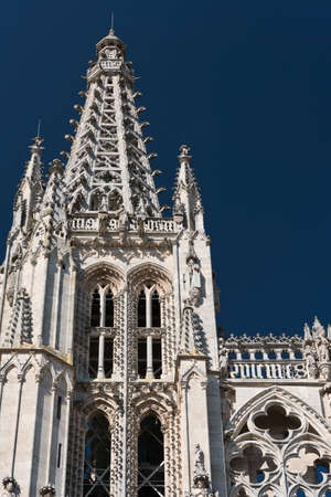 Burgos (Castilla y Leon, Spain): exterior of the medieval cathedral, in gothic style