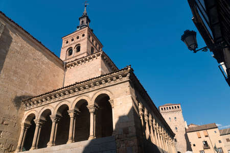 Segovia (Castilla y Leon, Spain): exterior of the medieval church of San Martin