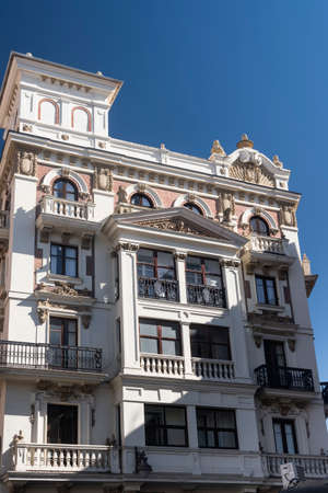 verandas: Valladolid (Castilla y Leon, Spain): historic buildings with the typical verandas near Plaza Mayor, the main square of the city