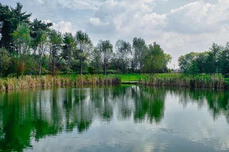 monza: Grugnotorto park (Brianza, Lombardy, Italy): in october Stock Photo