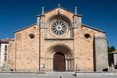 Avila (Castilla y Leon, Spain): facade of the historic Santa Teresa church