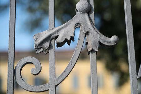 Costa Lambro (Monza Brianza, Lombardy, Italy): the historic Villa Stanga Busca Borromeo, exterior: detail of the gate