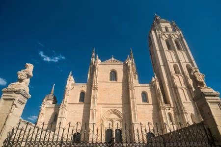 Segovia (Castilla y Leon, Spain): exterior of the medieval cathedral
