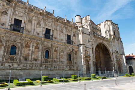 Leon (Castilla y Leon, Spain): the historic San Marcos palace, built in 16th century, nowadays hosting the Parador