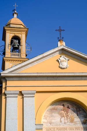 monza: Costa Lambro (Monza Brianza, Lombardy, Italy): exterior of the historic San Martino church Stock Photo
